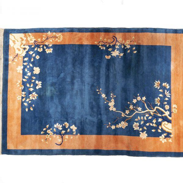 Tapis chinois bleu