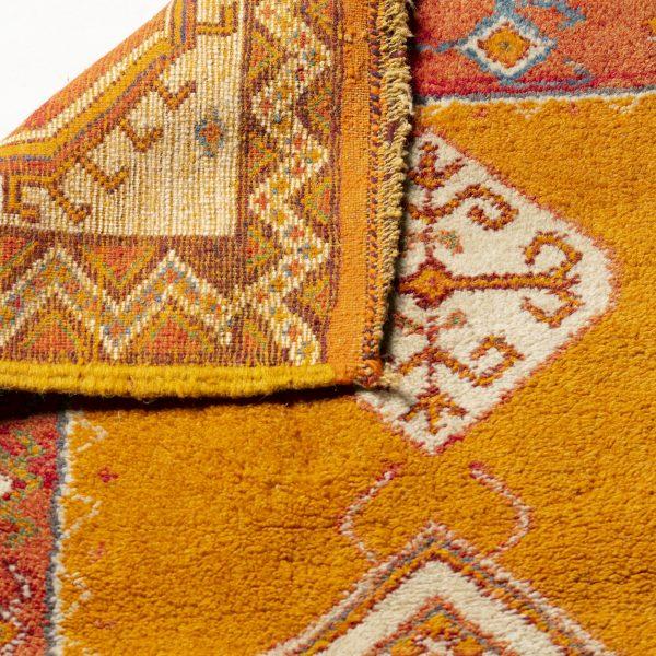 Tapis marocain orange et jaune