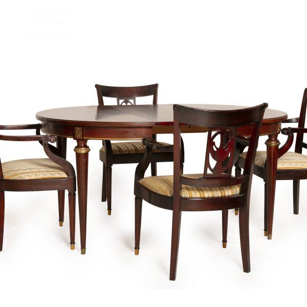 Table à manger ronde à rallonge