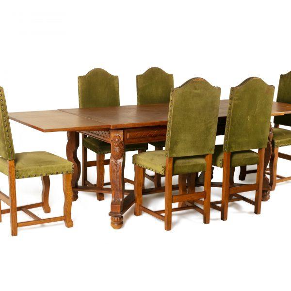 Ancienne table à manger à 6 chaises