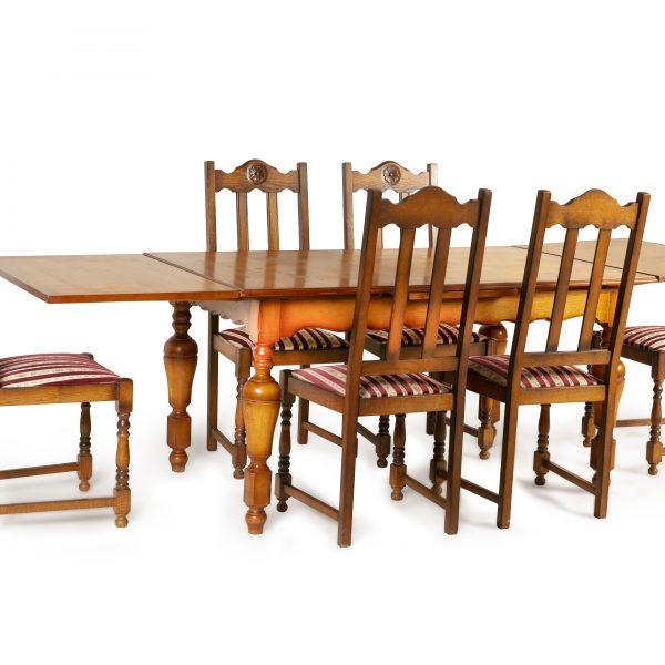Table à manger 6 chaises renaissance espagnole