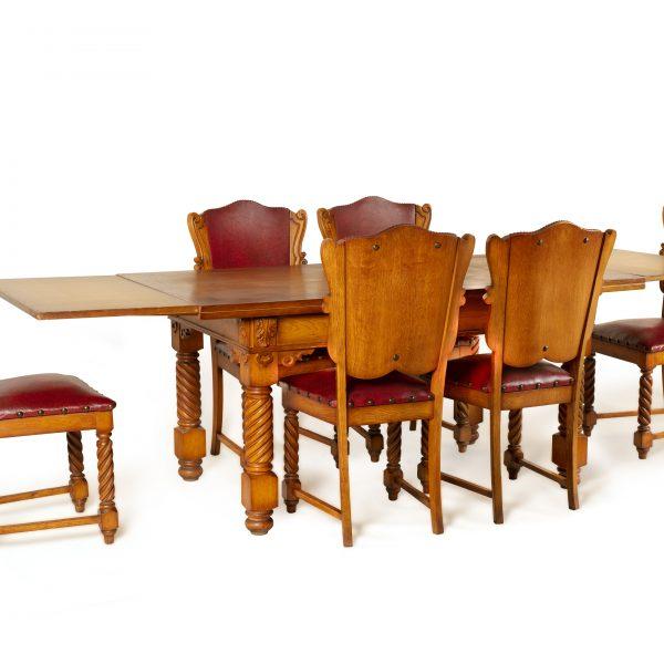 Table à manger à 6 chaises en cuir