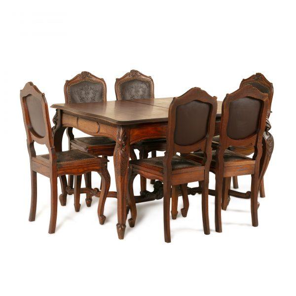 Table ancienne Style Louis XV à 8 chaises